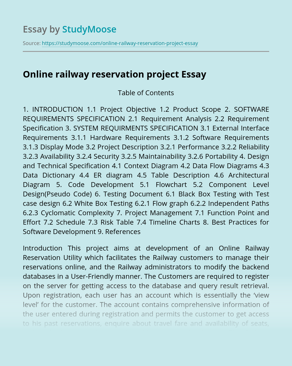 Online railway reservation project