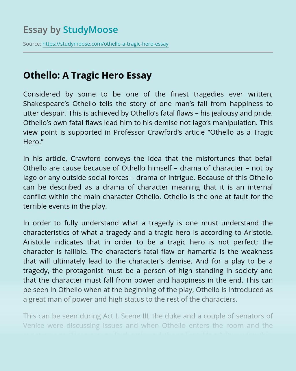 Othello: A Tragic Hero