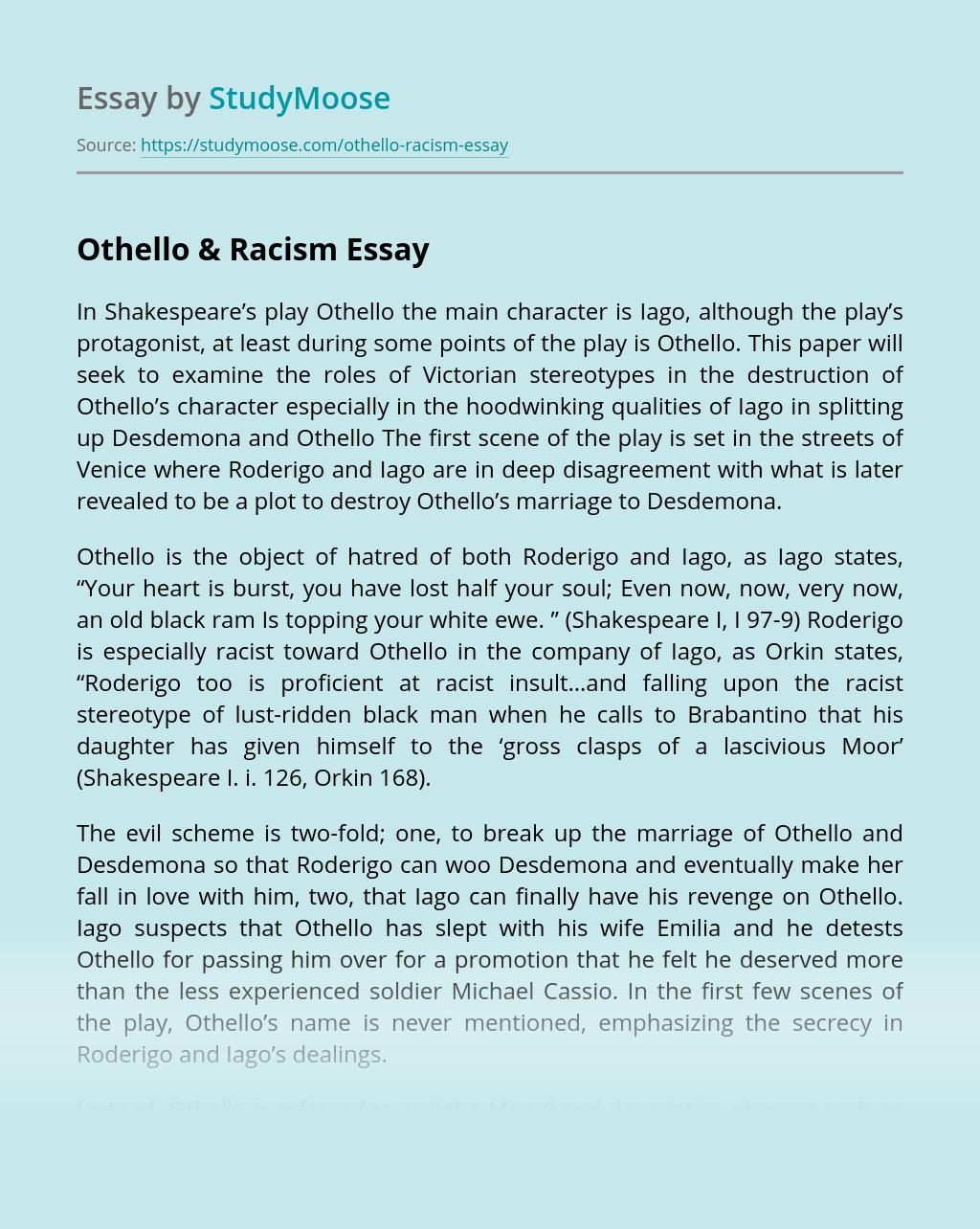 Othello & Racism