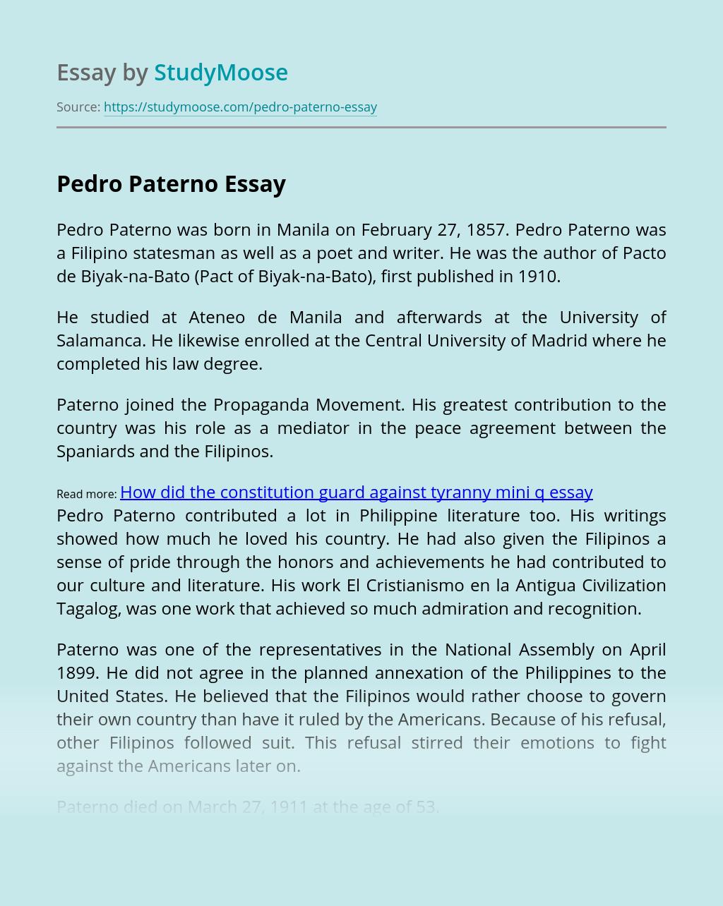 Pedro Paterno