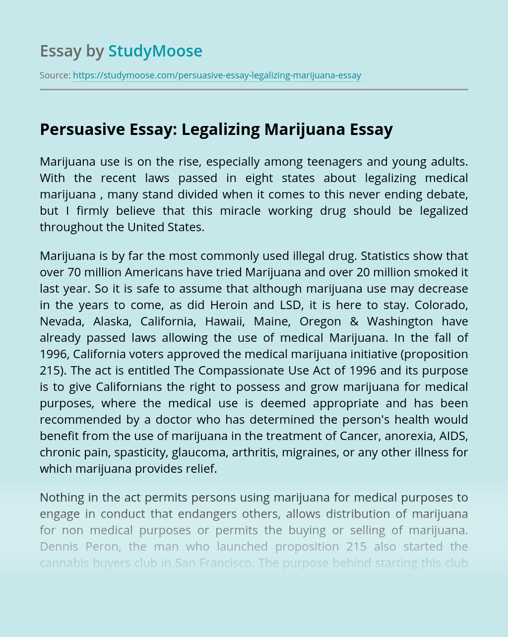 Legalization of marijuana argumentative essay a research paper outline