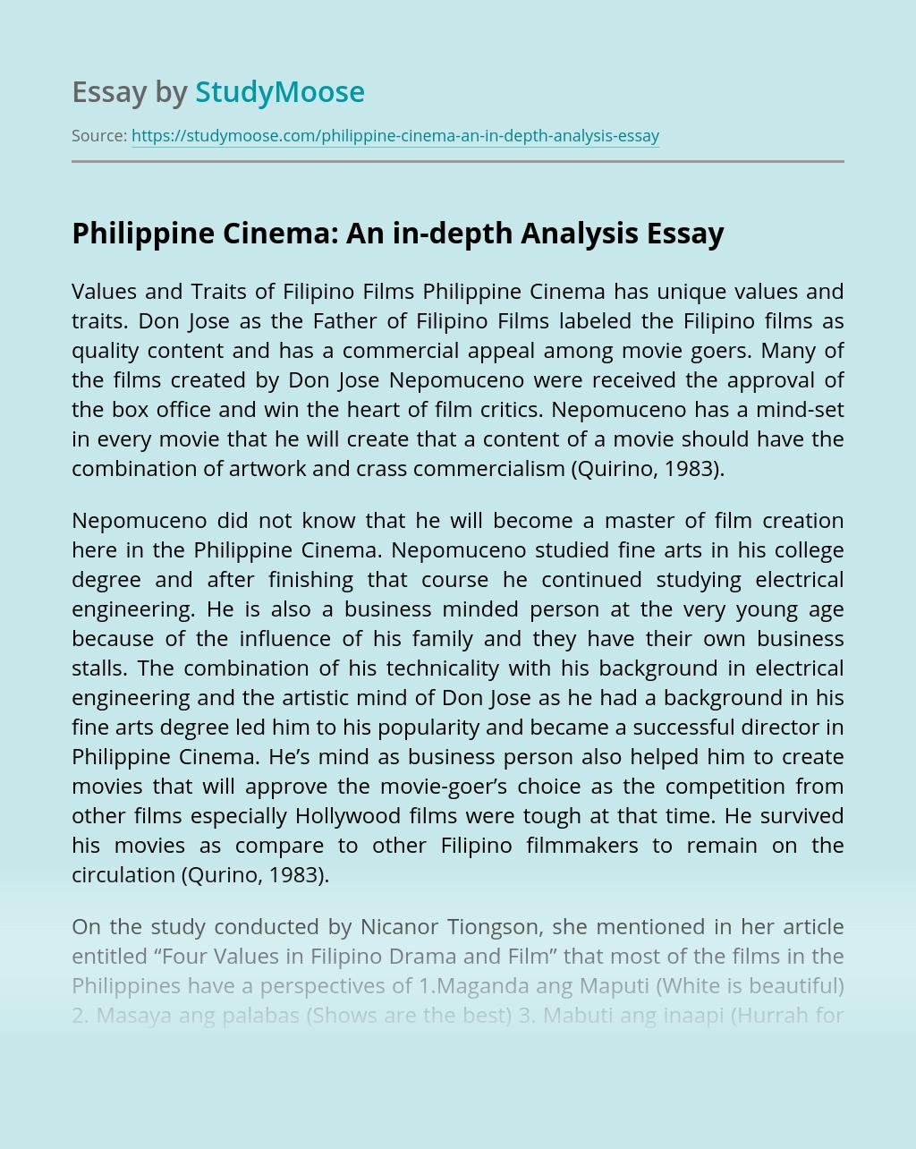 Philippine Cinema: An in-depth Analysis