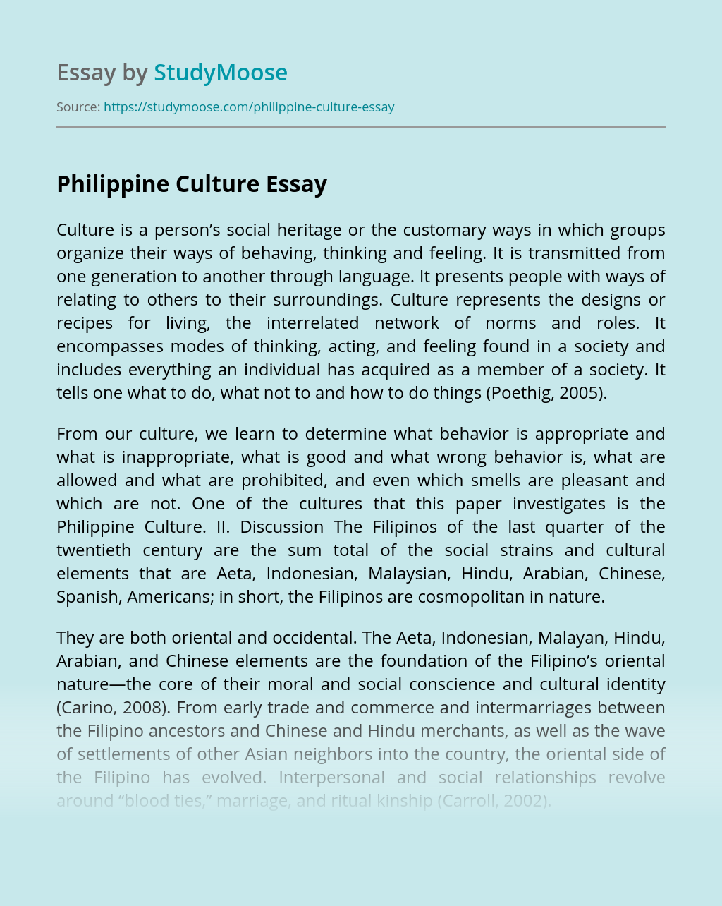 Philippine Culture
