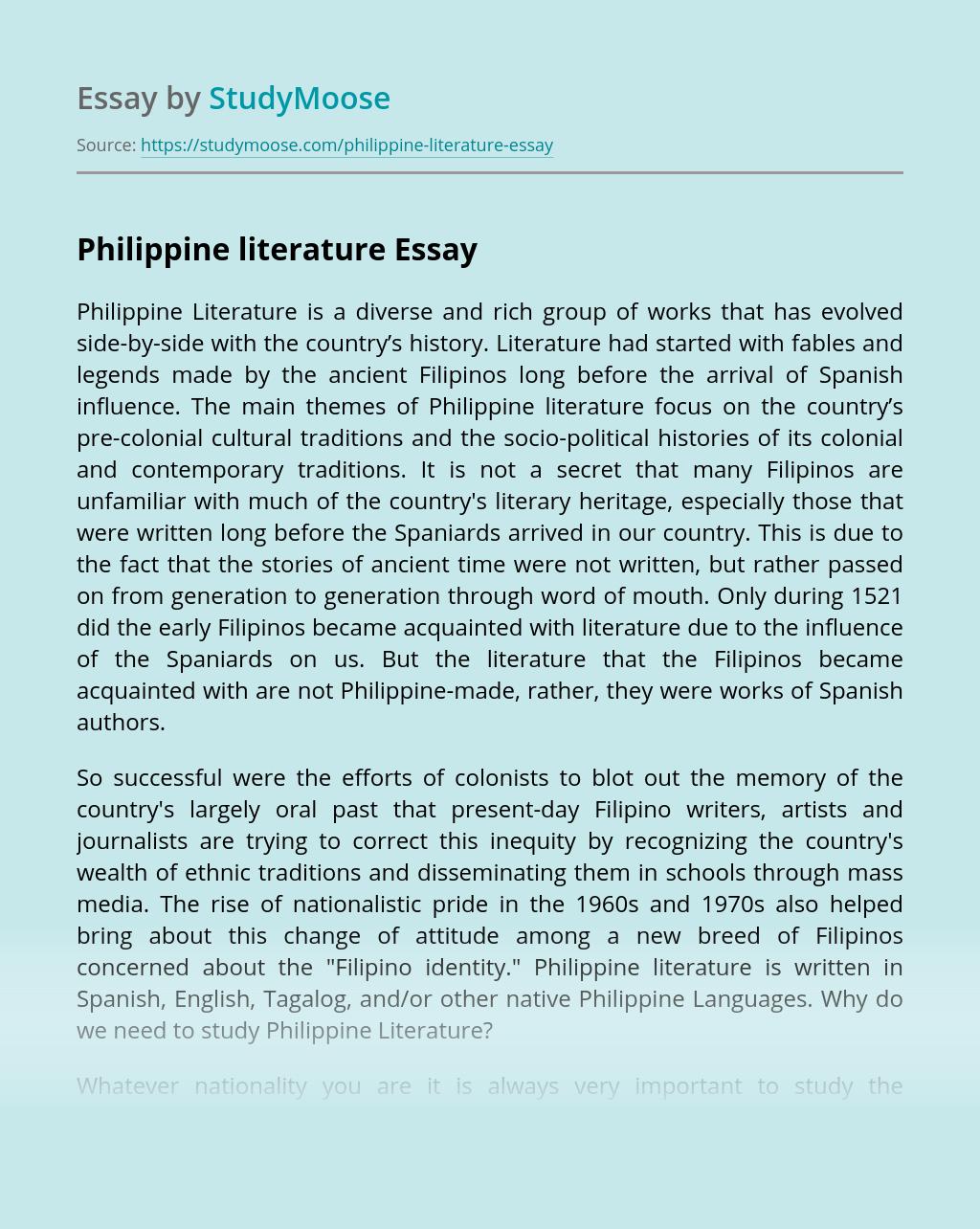 Essays of filipino authors buy custom masters essay on founding fathers