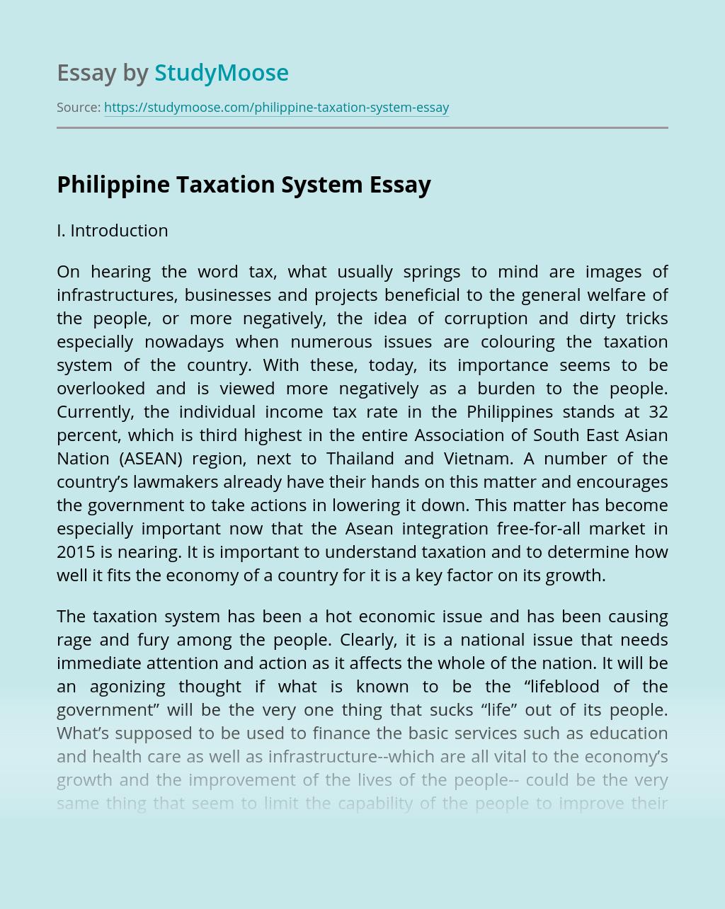 Philippine Taxation System