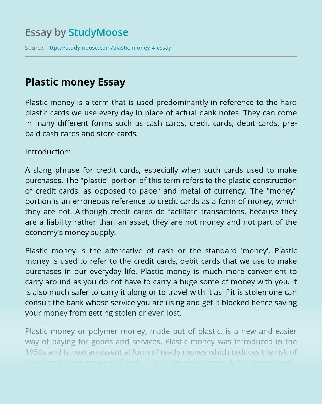 Plastic money