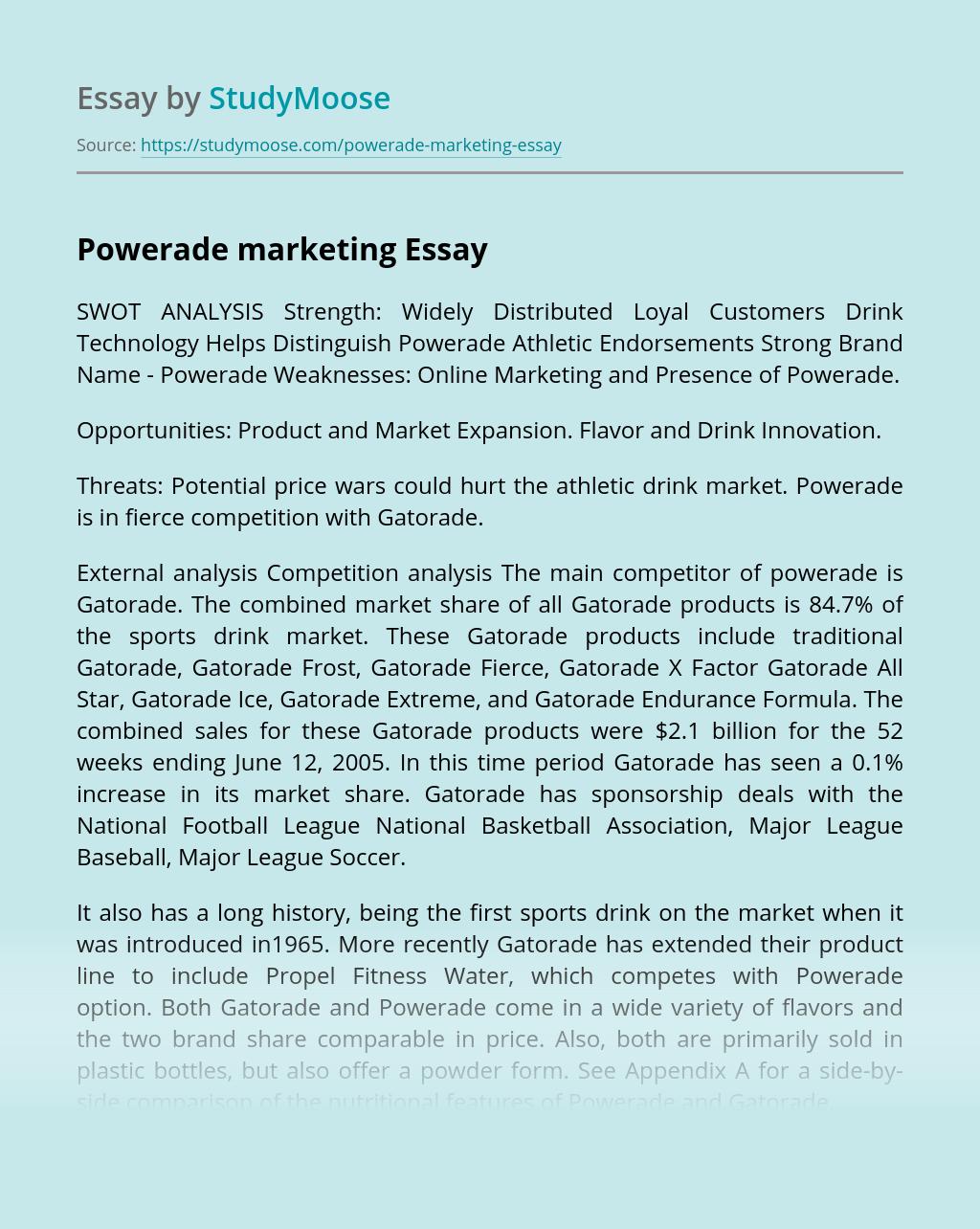 Powerade marketing
