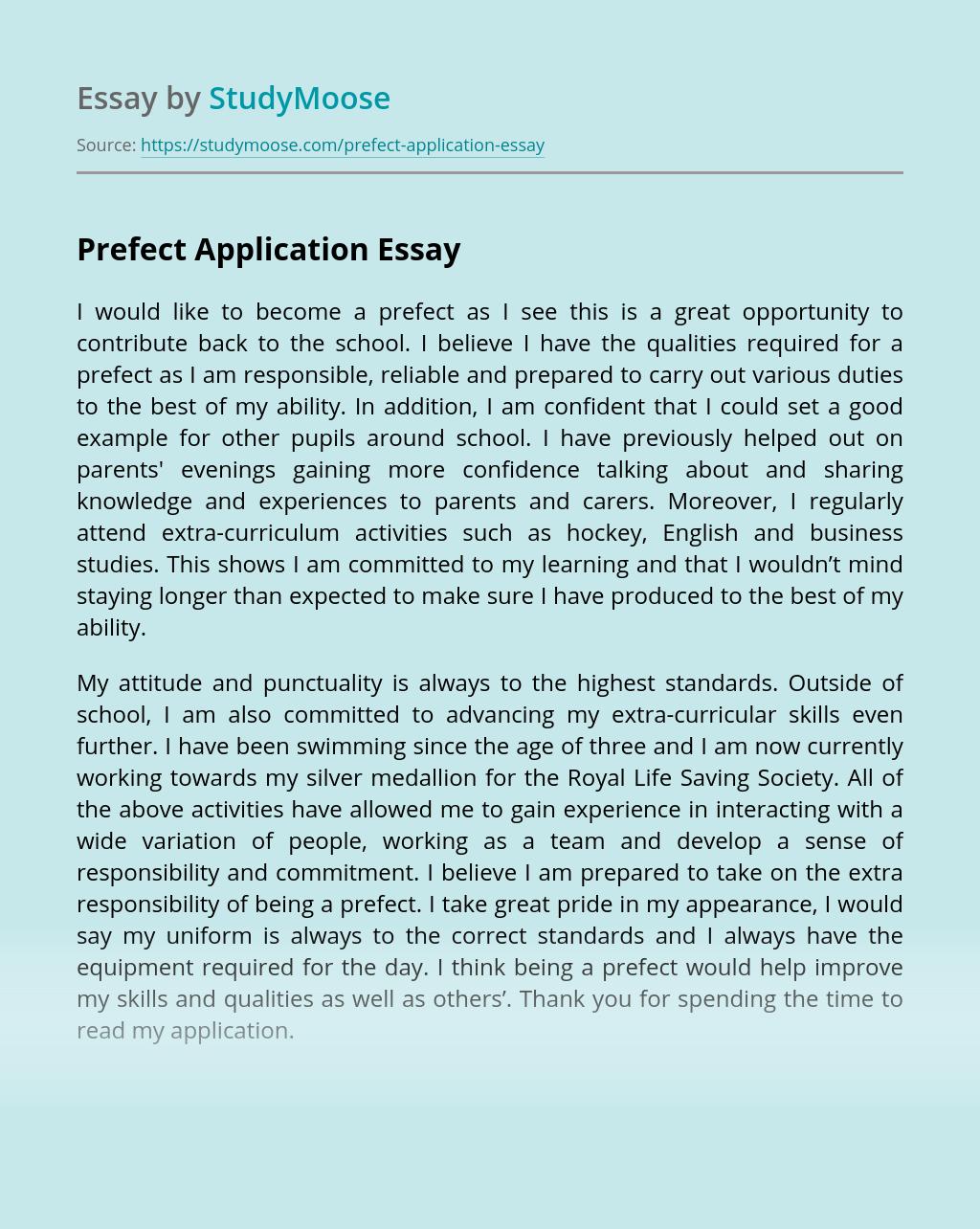 Prefect Application