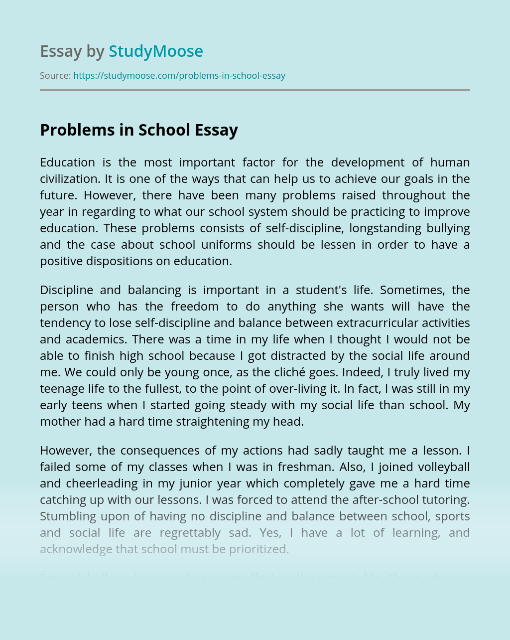 Problems in School
