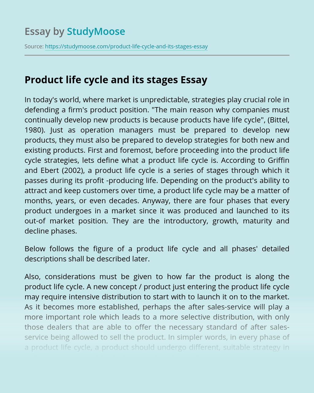 Product life cycle and its stages