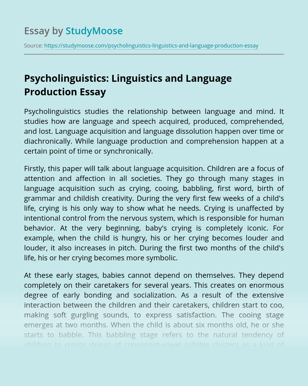 Psycholinguistics: Linguistics and Language Production