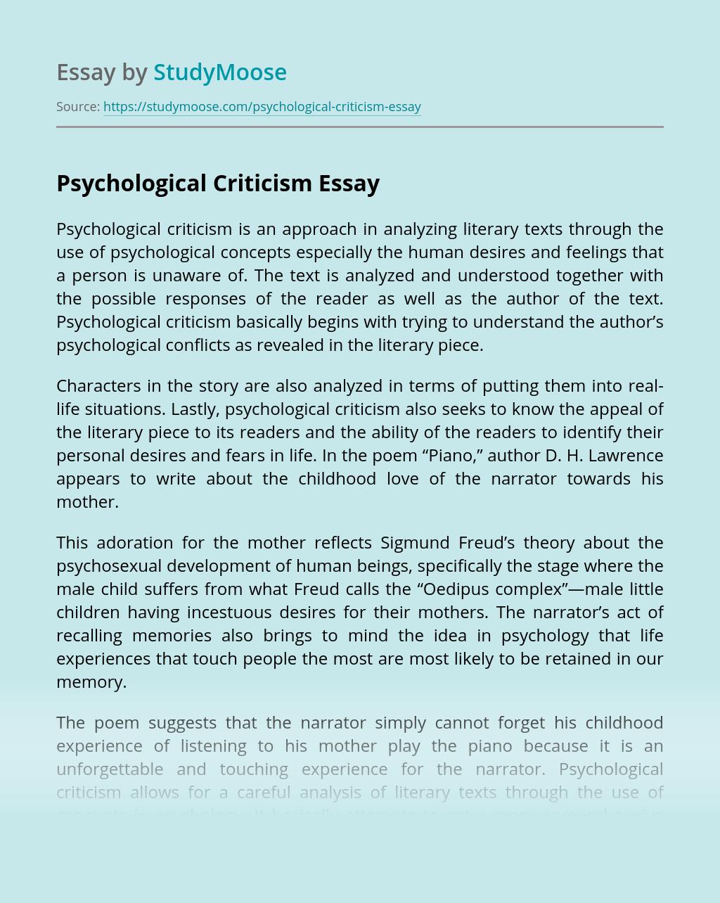 write critical analysis psychology paper