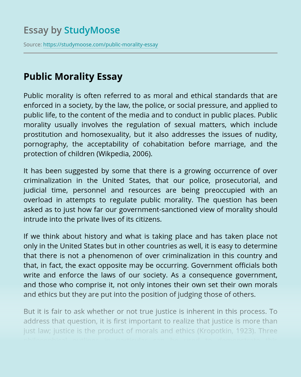 Public Morality
