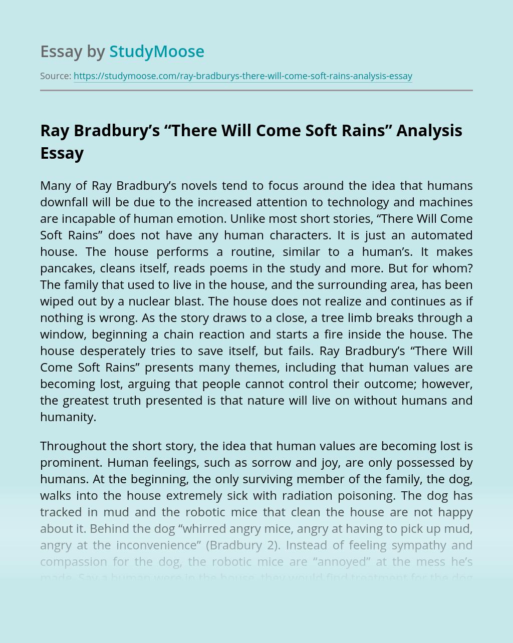 """Ray Bradbury's """"There Will Come Soft Rains"""" Analysis"""