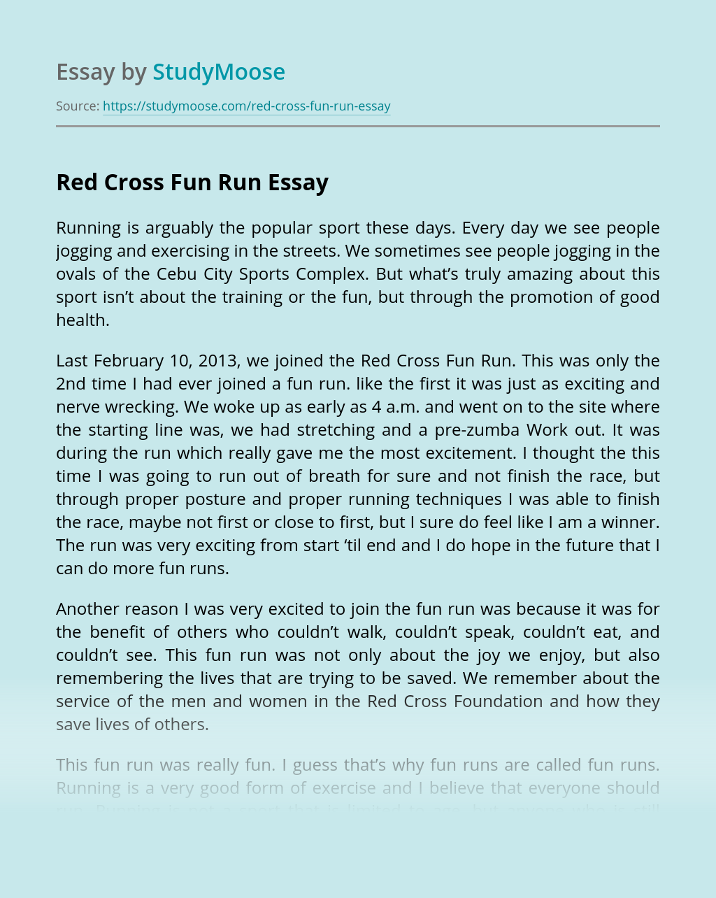 Red Cross Fun Run