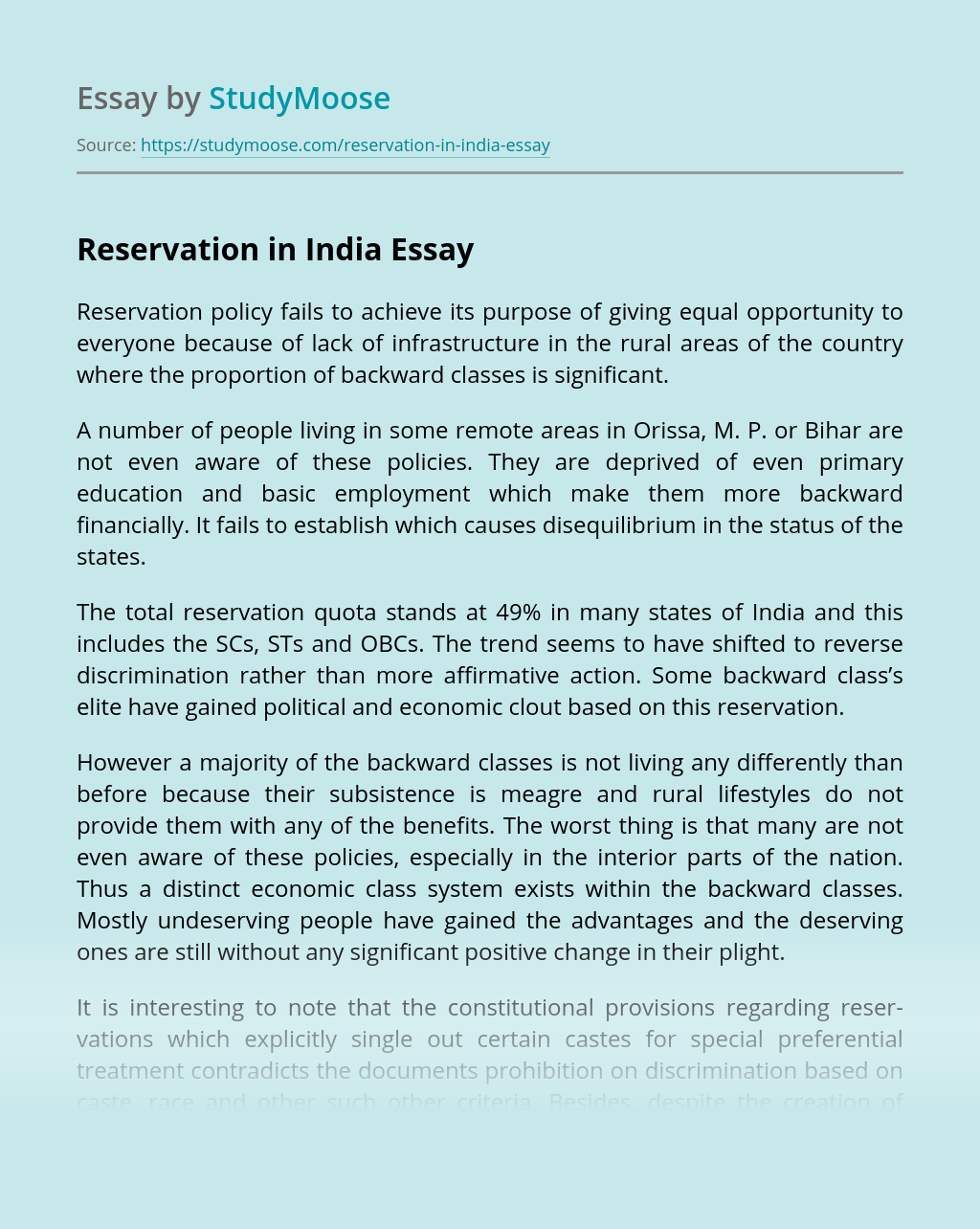 Essay on reservation top blog ghostwriting for hire us
