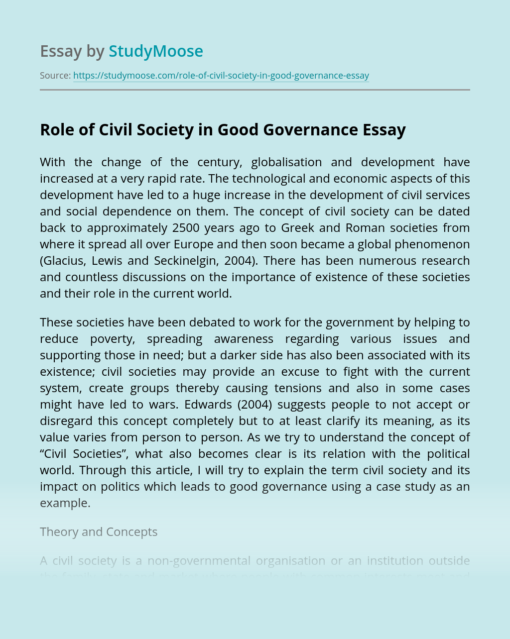 Role of Civil Society in Good Governance