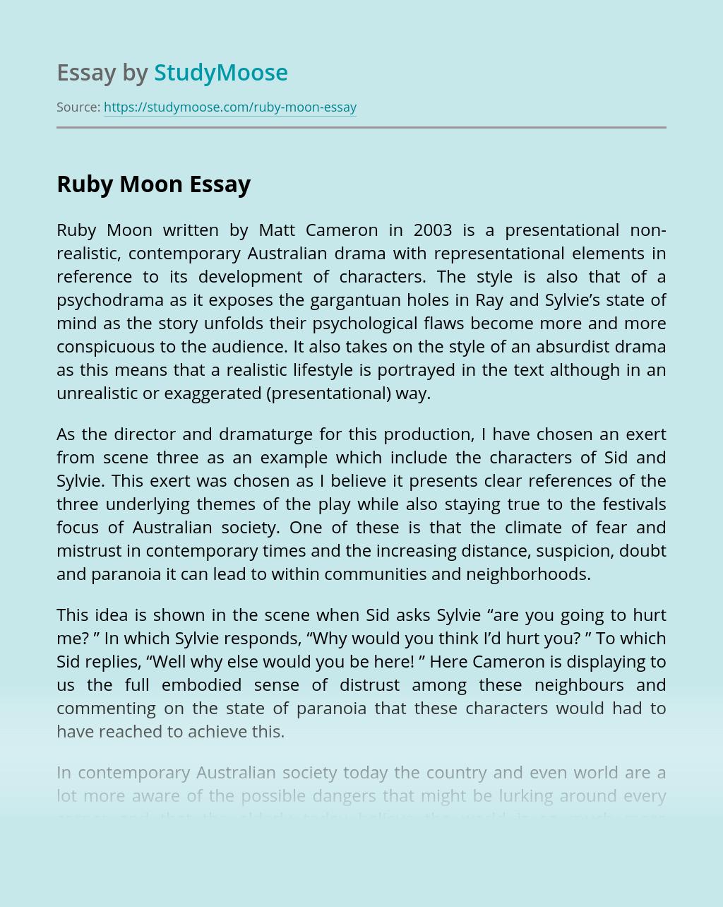 """Ruby Moon"" by Matt Cameron"