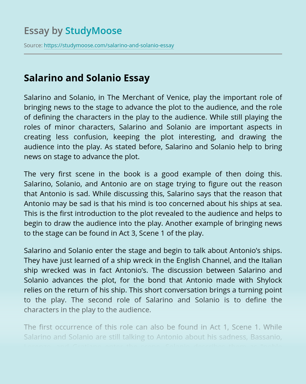 Salarino and Solanio