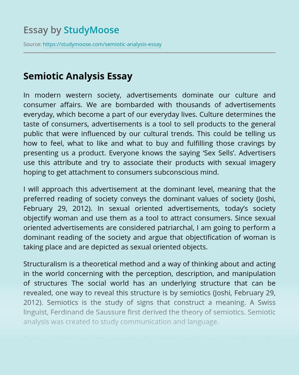 Semiotic Analysis