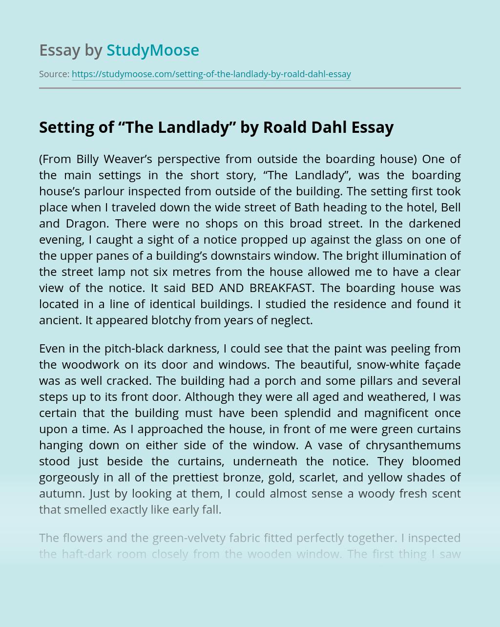 """Setting of """"The Landlady"""" by Roald Dahl"""