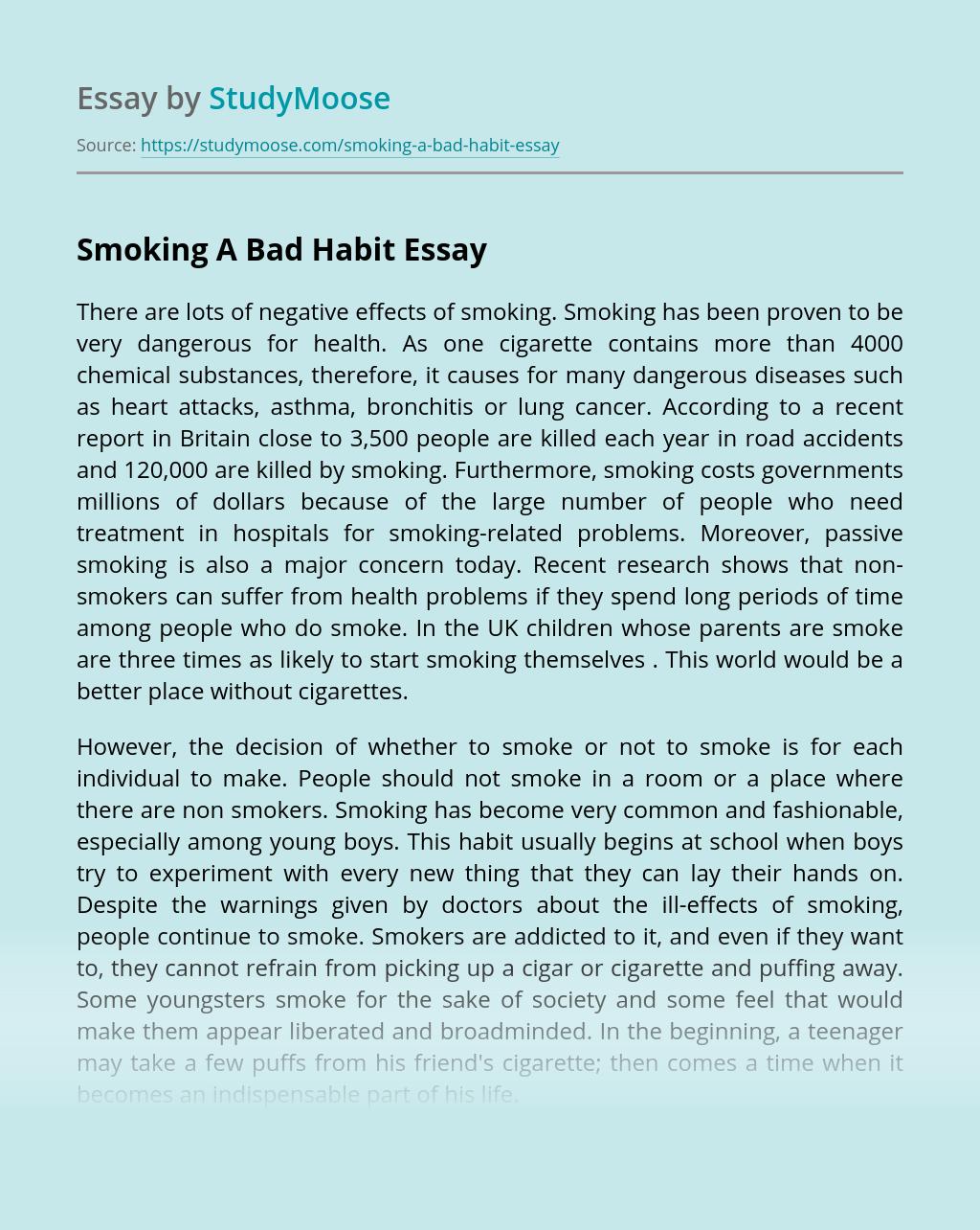 ?Smoking A Bad Habit