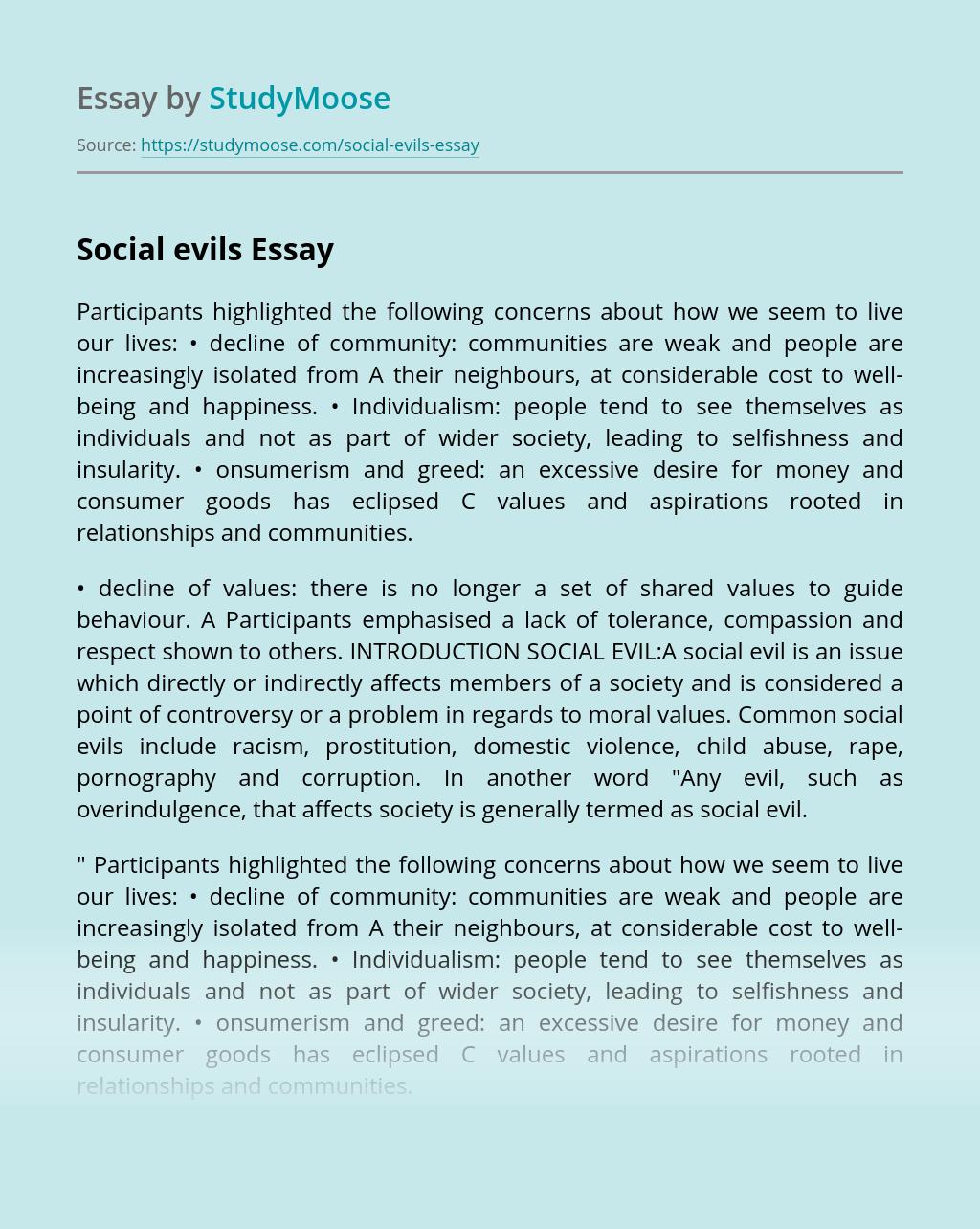 Social evils