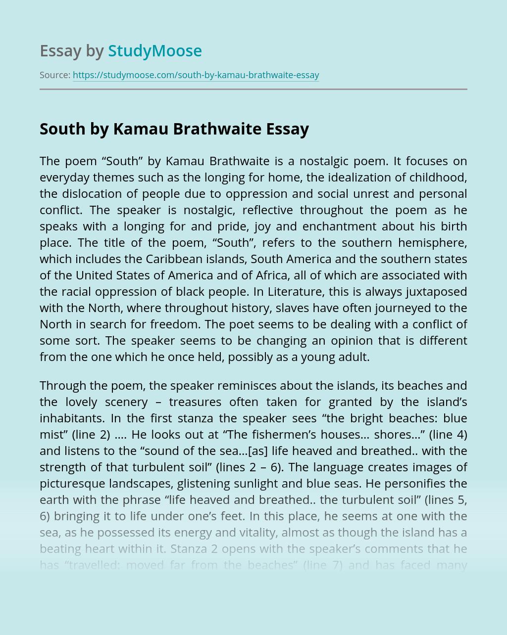 South by Kamau Brathwaite