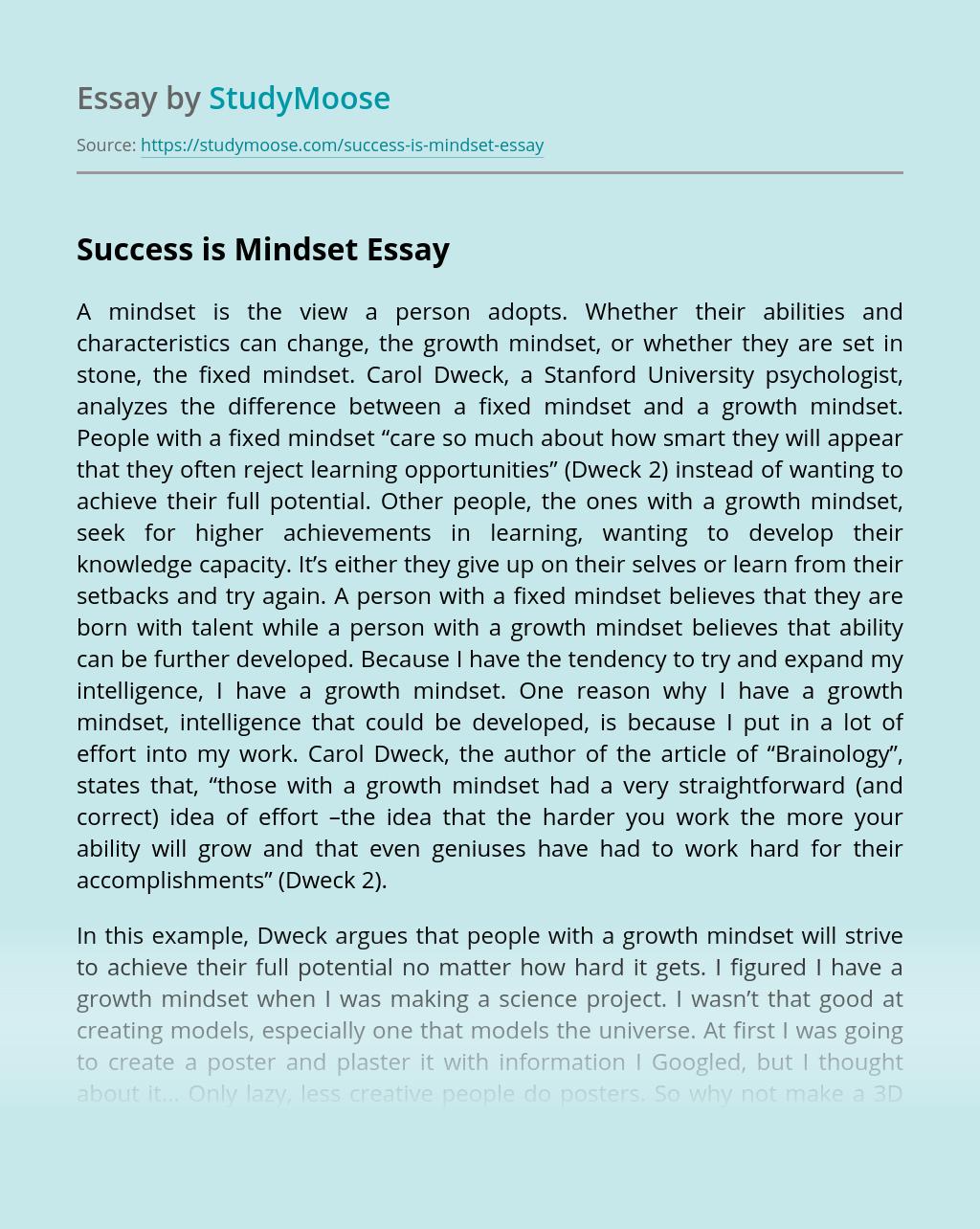 Success is Mindset
