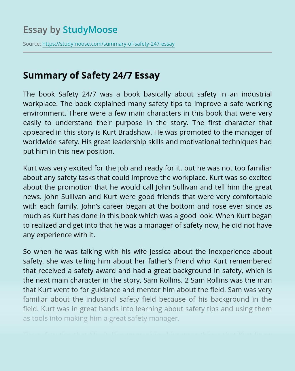 Summary of Safety 24/7