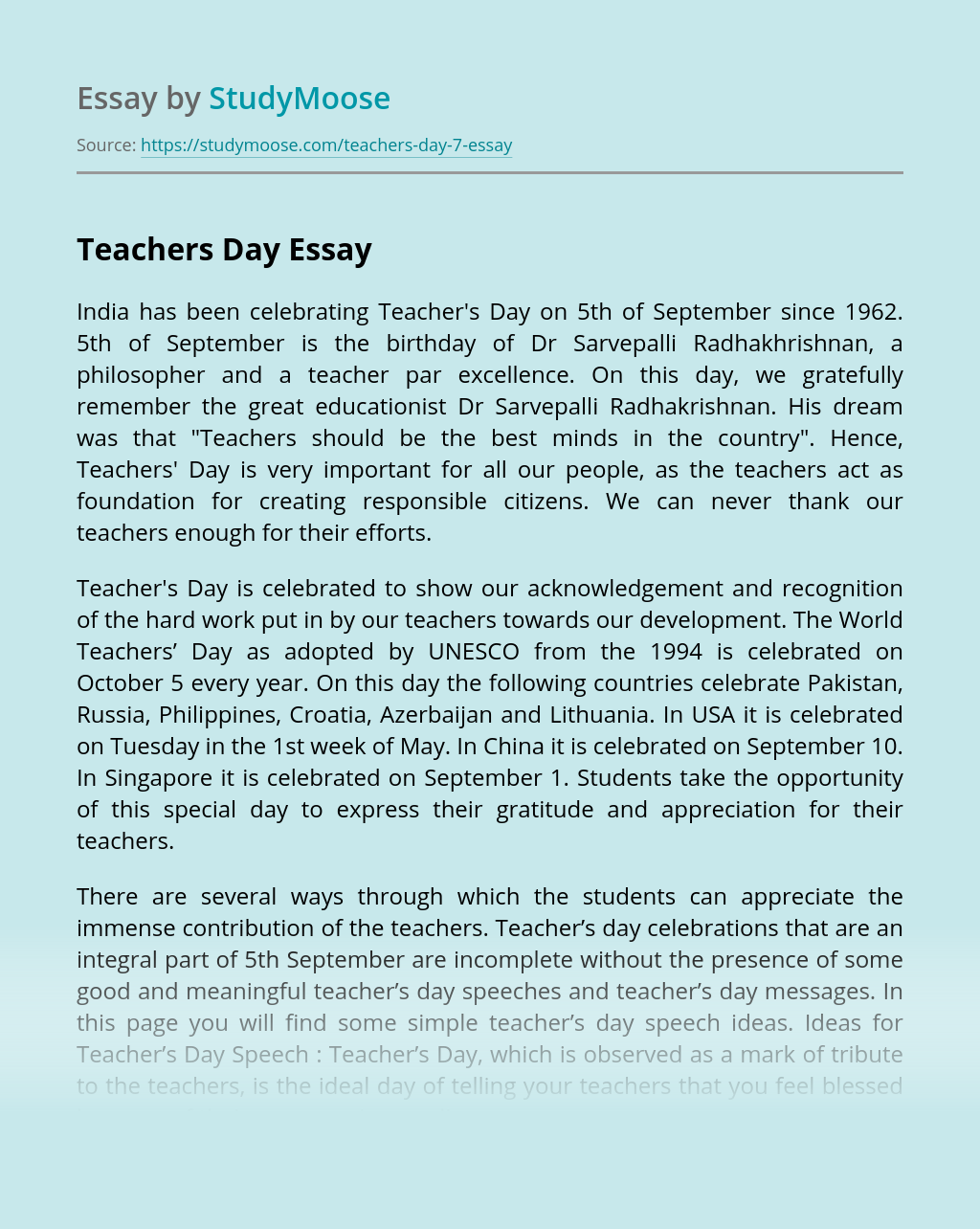 Essay topics for teachers day popular university essay writers for hire au