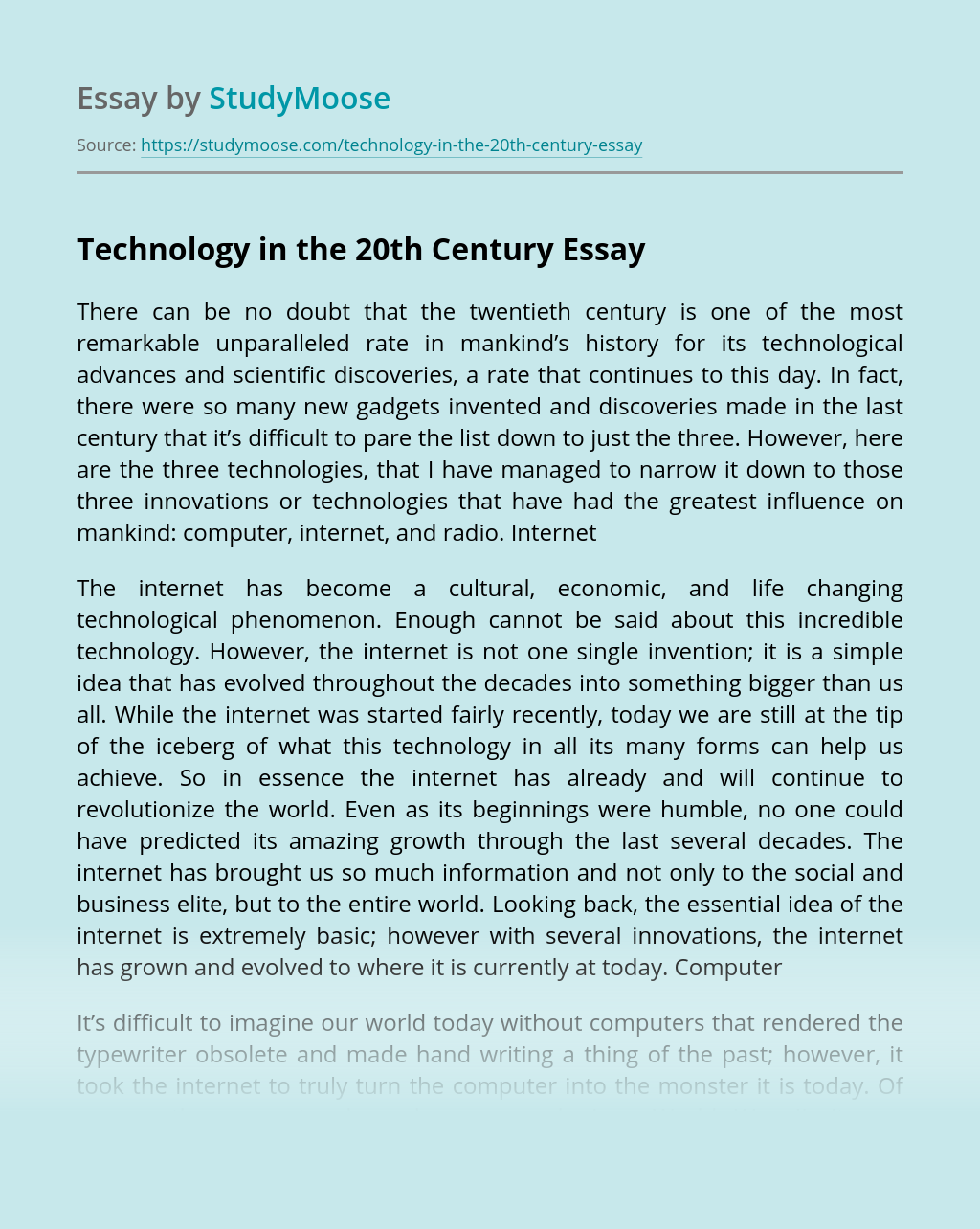 Essay on technology in 21st century how to write an overview paper