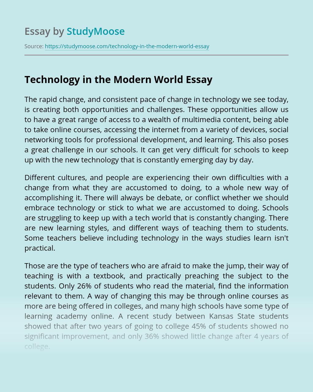 Technology in the Modern World