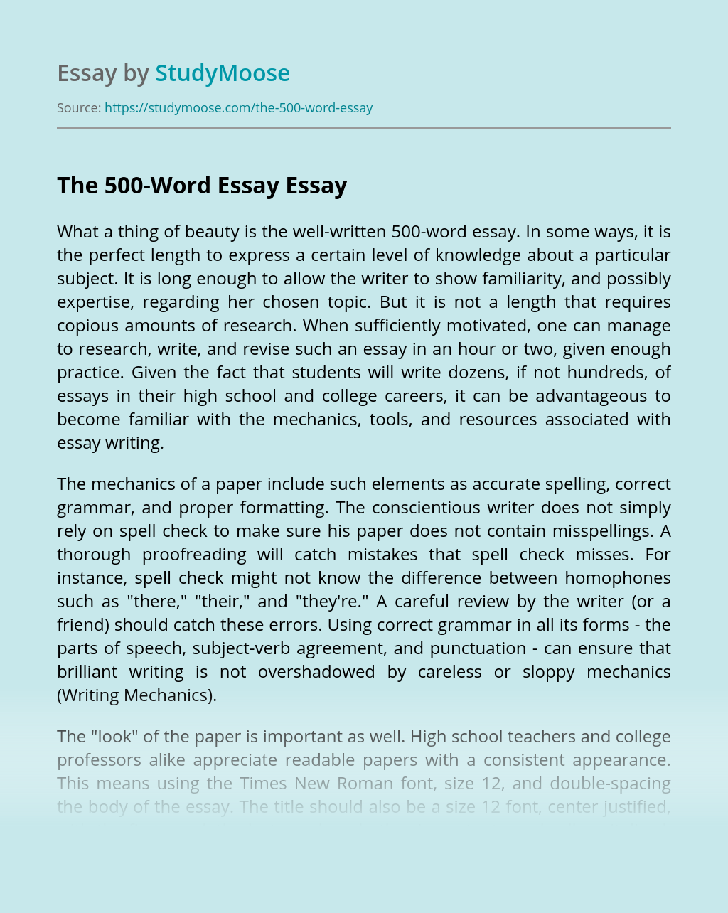 Corporate identity essays