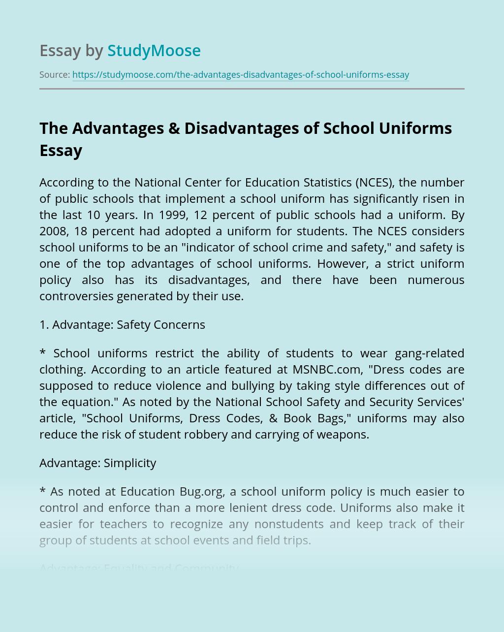 The Advantages & Disadvantages of School Uniforms