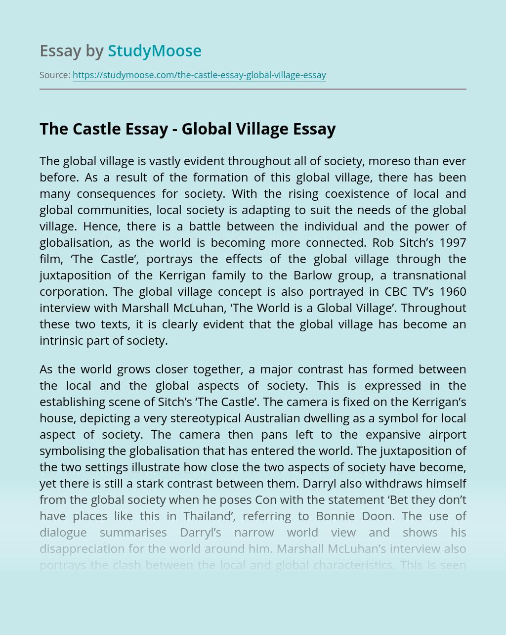 The Castle Essay - Global Village