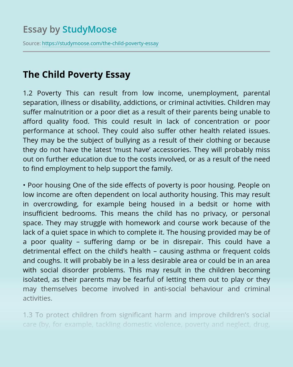 The Child Poverty