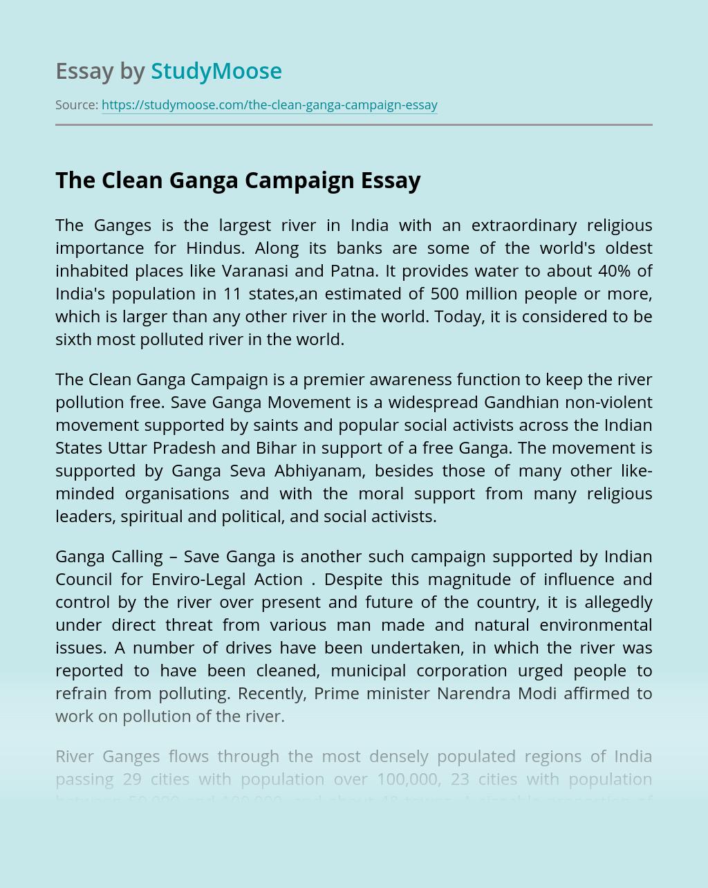 The Clean Ganga Campaign