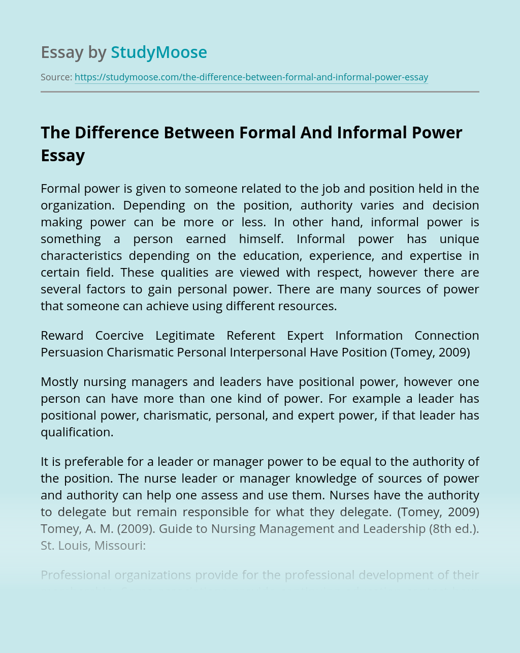 The Difference Between Formal And Informal Power