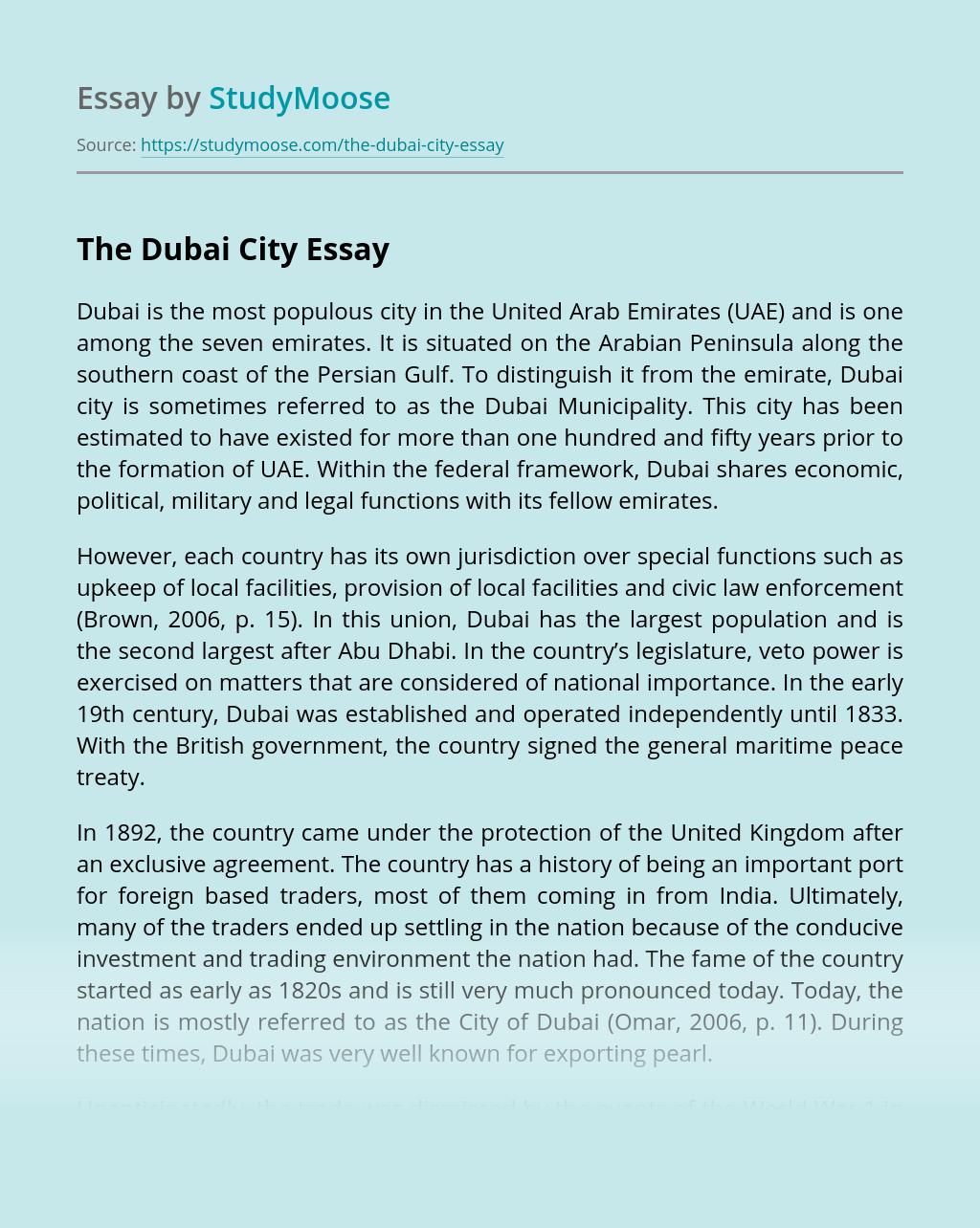 The Dubai City