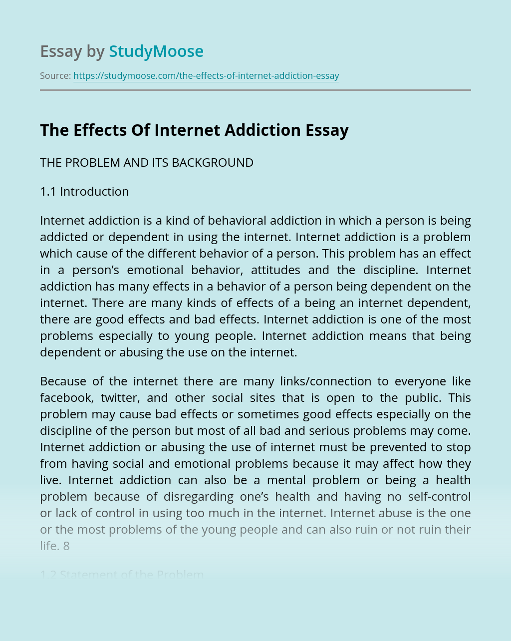 Cause effect essay computer addiction can a resume be 2 pages yahoo