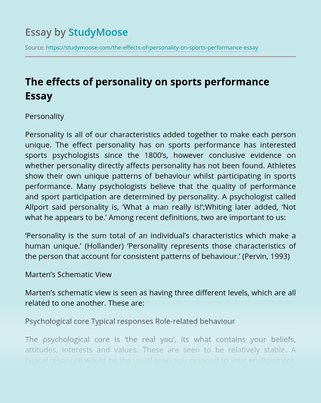 Effects of Personality on Sports Performance Essay Example on design view, los angeles view, dimension view, detailed view, cad view, digital view, code view, assembly view, project view, strategic view, panel view, conceptual view, note view, data view, drawing view, layout view,