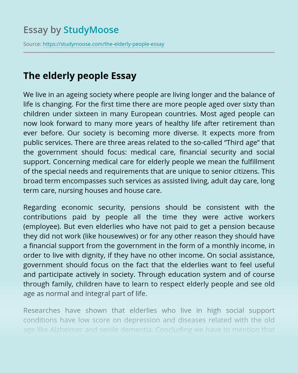 The elderly people