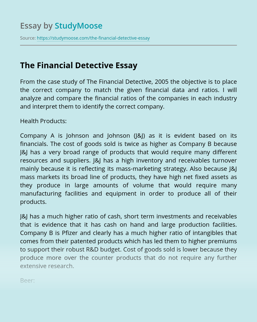 The Financial Detective