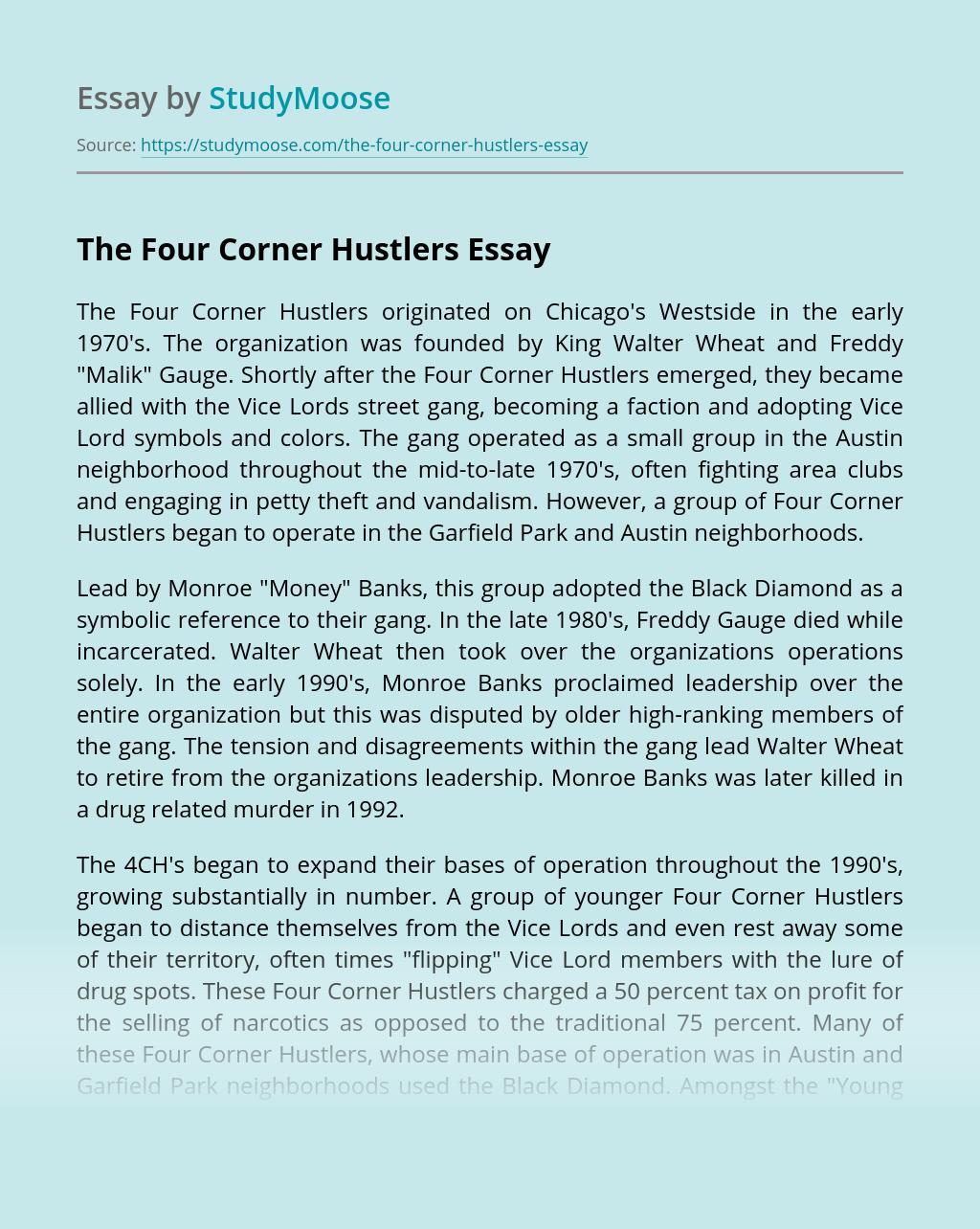 The Four Corner Hustlers