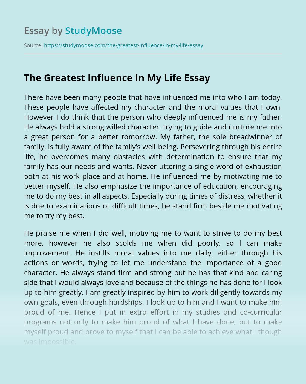 Influencing essay custom masters essay ghostwriter website for mba