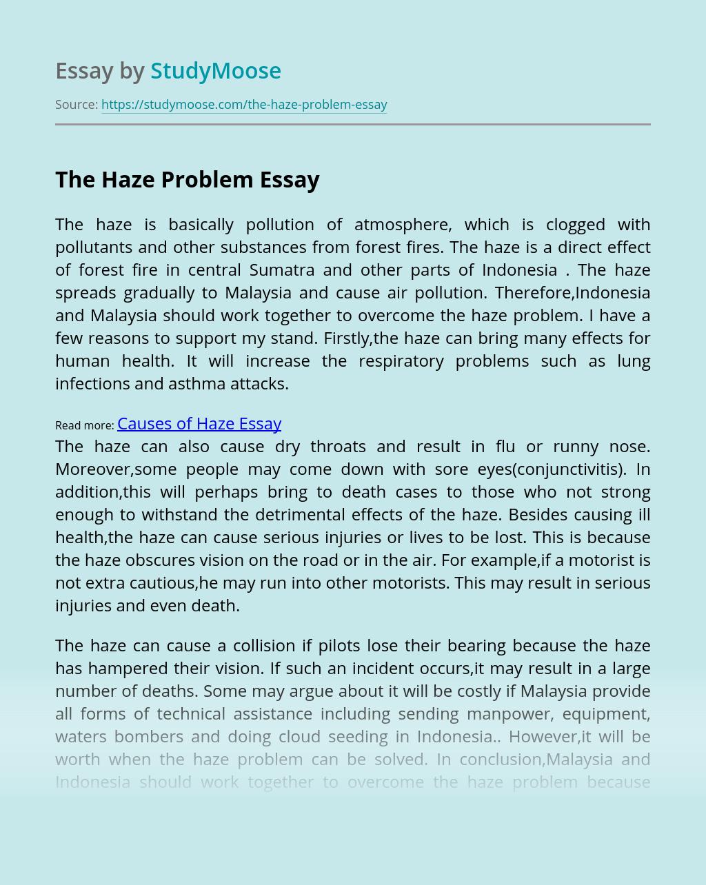 The Haze Problem
