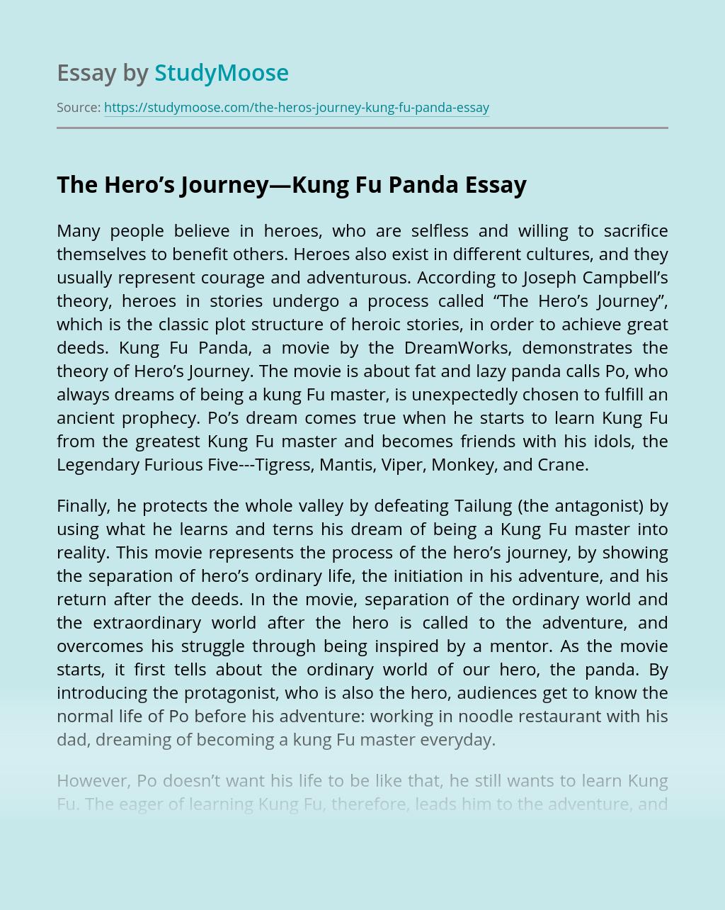 The Hero's Journey—Kung Fu Panda