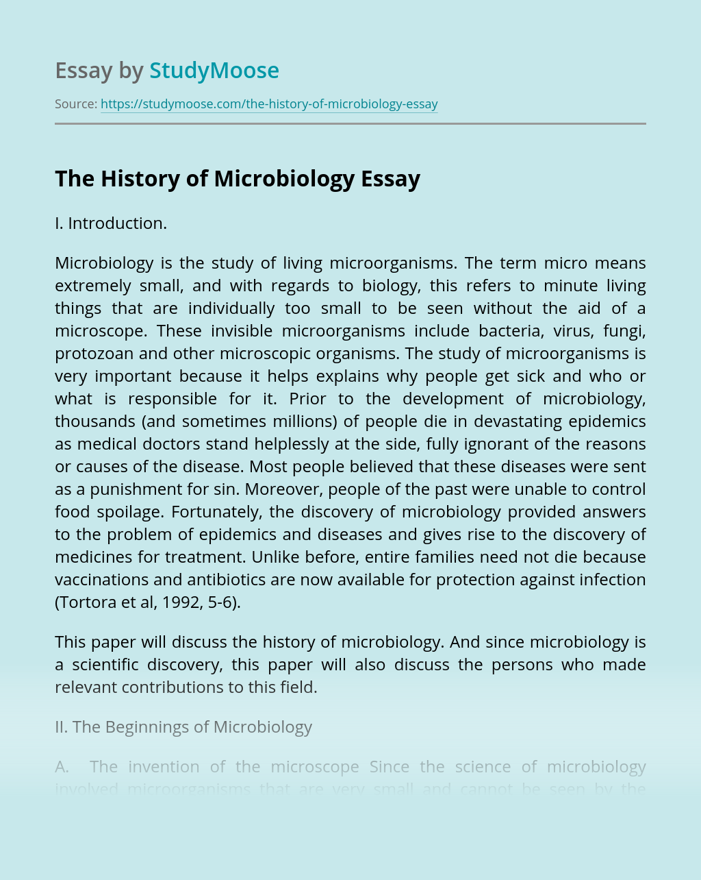 The History of Microbiology