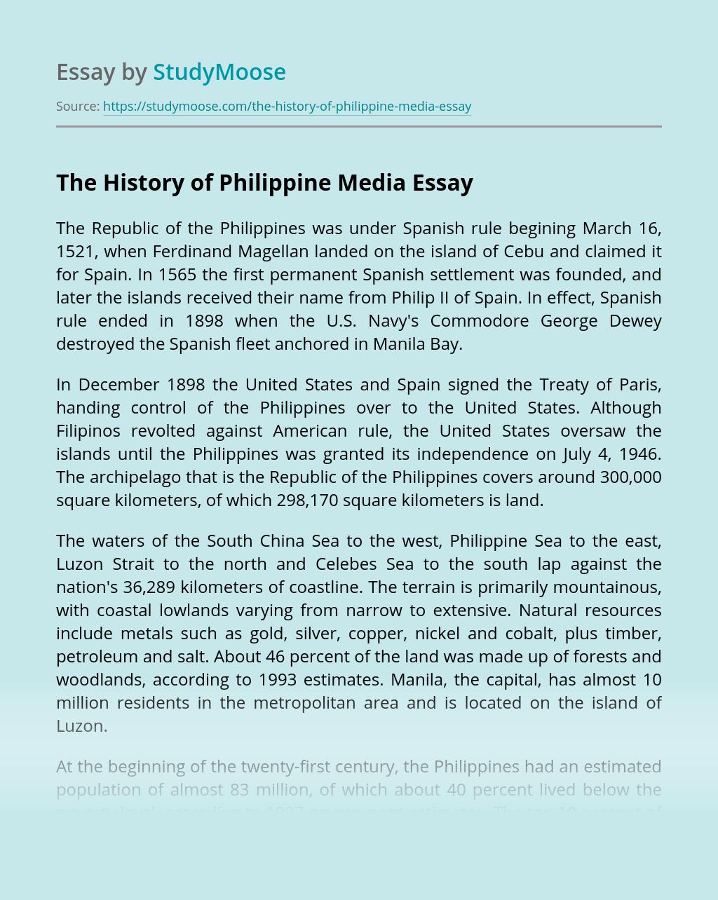 The History of Philippine Media